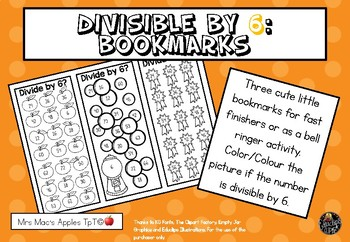 Divisible by 6 Bookmarks