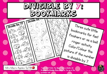 Divisible by 7: Bookmarks
