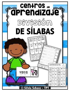 Centros de aprendizaje de sílabas - División silábica