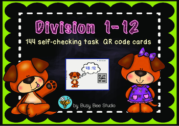 Division 1-12 QR code cards