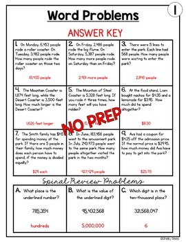 Word Problems Worksheets