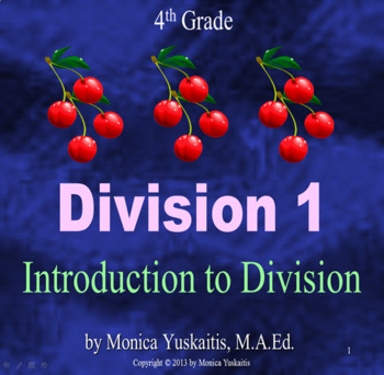 Common Core 4th - Division 1 - Introduction to Division