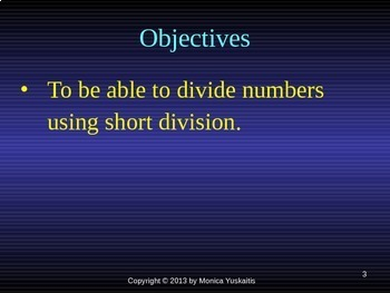 Common Core 4th - Division 10 - Short Division