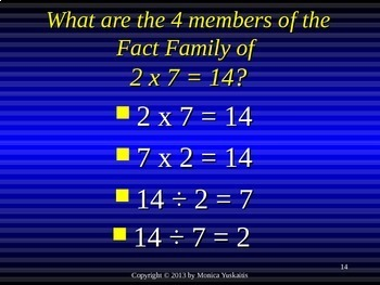Common Core 3rd - Division 10 - Writing the Fact Families of 7 & Review