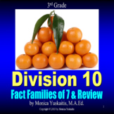 3rd Grade Division 10 - Writing the Fact Families of 7 & Review Lesson