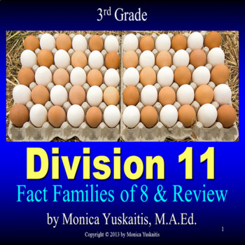 Common Core 3rd - Division 11 - Writing the Fact Families