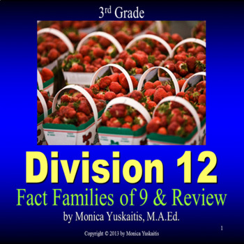 Common Core 3rd - Division 12 - Writing the Fact Families