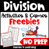 Free NO PREP Division Games for Division Fact Fluency