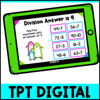 Division Activity: Pick, Flip Check Cards for Division Facts Fluency