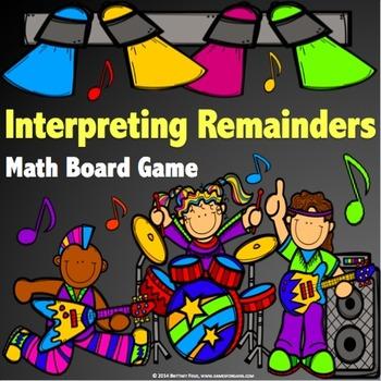 Division Activity: Interpreting Remainders Division Game