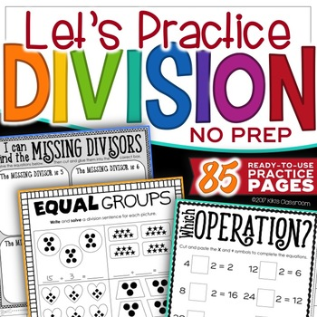 Division Facts Practice - Division Activities - Division 3rd Grade