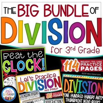 Division Activities & Division Fact Practice - Division Games - Division 3rd