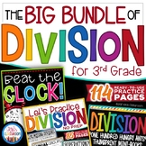 Division Worksheets - Division Game, Word Problems, & Mini-Book for 3rd Grade