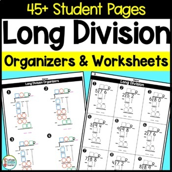 Long Division Kit with Organizers and Worksheets - Great f
