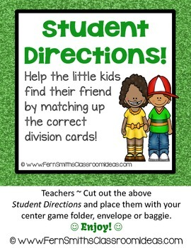 Division Center Game Divide By Three A Quick and Easy to Prep Center