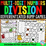 Division Game: 10 Differentiated Dividing Multi-Digit Numbers Games
