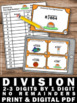 Division with No Remainders, 4th Grade Math Review Game, Division Task Cards