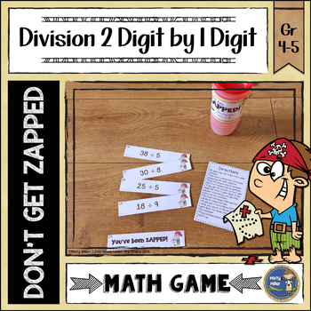 Division 2 Digit Divided by 1 Digit Don't Get ZAPPED Math Game