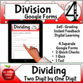 Division 2 Digit by 1 Google Forms Assessments 4th grade M
