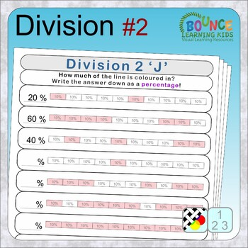 Division 2 - Fractions/Decimals/Percentages (12 distance learning worksheets)