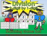 Division: 2-digit by 1-digit Matching Game Sort - Football - King Virtue