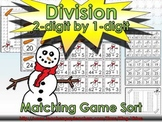 Division: 2-digit by 1-digit Matching Game Sort - Winter Snowman