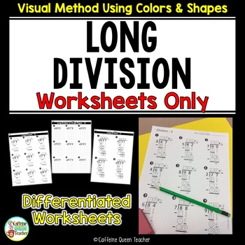 Long Division - Worksheets Only Kit