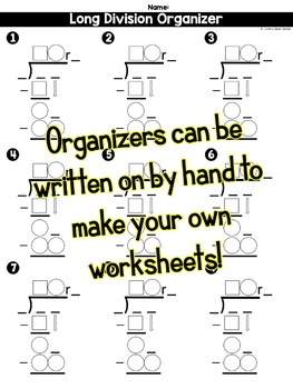 Long Division - Organizers Only Kit