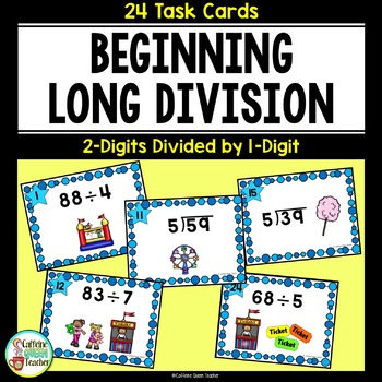 2 Digit Division With and Without Remainders - Differentiated