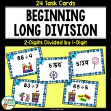 Long Division for Beginners Differentiated Task Cards