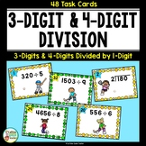 Long Division - Differentiated Task Cards