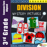 Math Project for 3rd Grade, Division Worksheets Mystery Picture Coloring