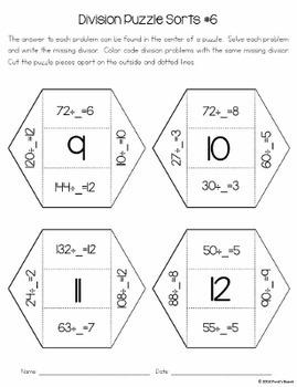 Division Puzzle Sorts