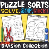 Division Puzzles | Division Facts 0-12 | No Prep Math Centers
