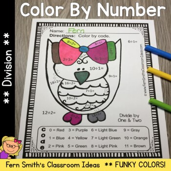 Color By Numbers Funky Owls Division