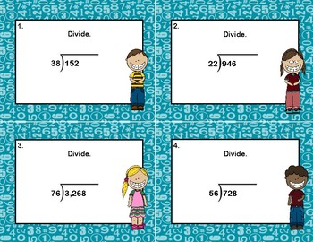 Division- 3-4 Digits by 2 Digits -No Remainders-Column Division -Grades 4-6