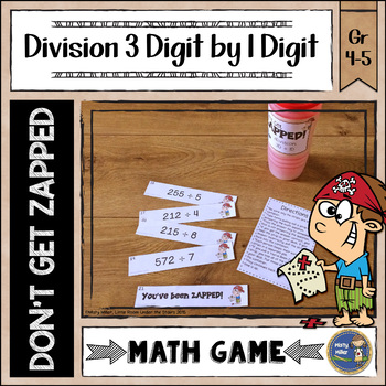 Division 3 Digit Divided by 1 Digit ZAP Math Game