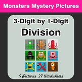 Division: 3-Digit by 1-Digit - Math Color-By-Number / Math Mystery Pictures