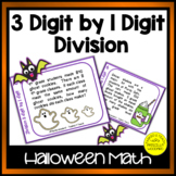 Halloween Division 3 Digit by 1 Digit Task Cards No Remainders