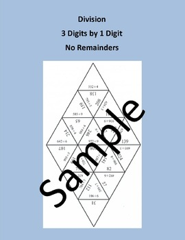 Division 3 Digits by 1 Digit - Math puzzle