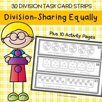 Division - 30 Task Card Strips and 10 Activity Pages