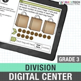 Division 3rd Grade Interactive Digital Math Center use with Google Classroom™