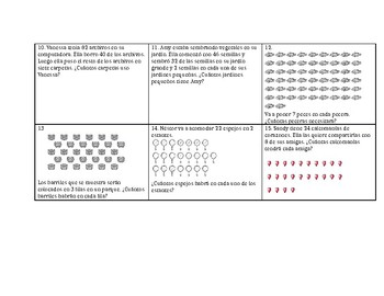 Division 3rd Grade Word Problems (Spanish)