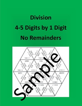 Division 4-5 Digits by 1 Digit - Math Puzzle
