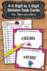Long Division 4-5 Digit by 1 Digit Task Cards Without Remainders