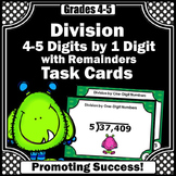 Long Division with Remainders Task Cards, Dividing 4-5 Digits by 1 Digit