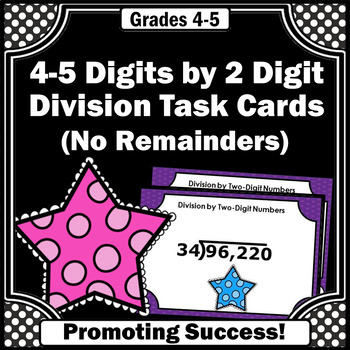 Long Division 4-5 Digits by 2 Digits Without Remainders 4t