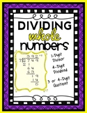 Division: 4-Digit by 1-Digit Long Division, Computation and Word Problems