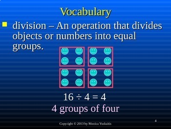 Common Core 3rd - Division 4 - Dividing by 5 & Review