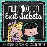 Common Core Exit Tickets: Division {4.NBT.6}